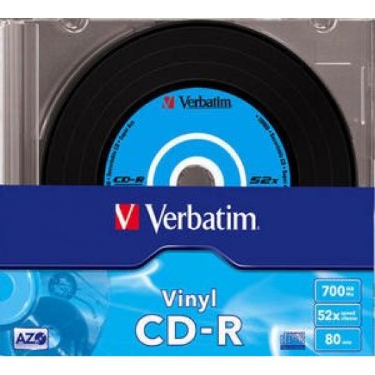 VERBATIM CD-R(10-Pack)Slim/Vinyl/DLP/52x/700MB