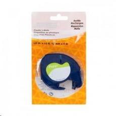 PRINTLINE kompatibilní páska s DYMO 59421, 12mm x 4m, černý tisk / bílý podklad, LetraTag, papírová