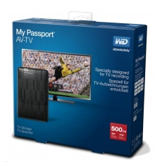 "WD My Passport AV-TV 500GB Ext. 2.5"" USB3.0, Black"