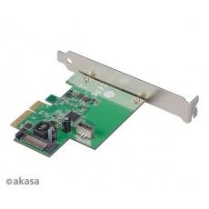 AKASA síťová karta USB 3.2 HOST card, 10Gbps USB 3.2 Gen 2, Interní, 20-pin, PCIe