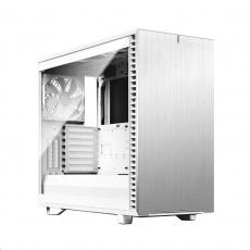 FRACTAL DESIGN skříň Define 7 Clear Tempered Glass Midi Tower, bílá, bez zdroje