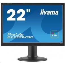 Iiyama monitor ProLite B2280WSD, 55.9 cm (22''), VGA, DVI, Pivot, black