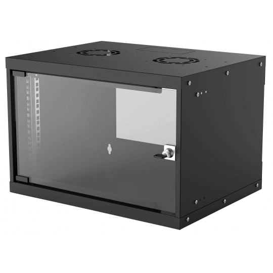 "Intellinet 19"" BASIC rozvaděč 6U/400mm, černý, rozložený flatpack"