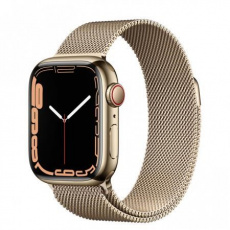 Apple Watch Series 7 Cell, 41mm Gold/Steel Case/Gold Mil.Loop