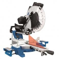 Scheppach HM 140 L - pokosová pila s potahem, laserem a oboustranným nastavením náklonu