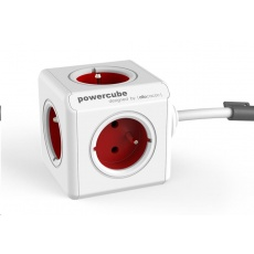 Allocacoc PowerCube Extended Red (1,5m)