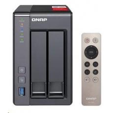 QNAP TS-251+-2G (4C/Celeron J1900/2,0-2,42GHz/2GBRAM/2xSATA/2xGbE/2xUSB2.0/2xUSB3.0/1xHDMI)