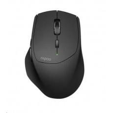 RAPOO myš MT550 Wireless Laser, Multi-mode: 2.4 GHz, Bluetooth 3.0 & 4.0, Black