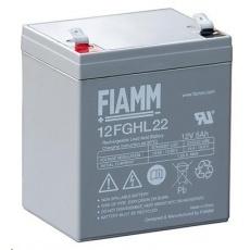 Baterie - Fiamm 12 FGHL 22 (12V/5Ah - Faston 250), životnost 10let