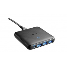 Anker PowerPort Atom III Slim 45W, 1x USB-C, 20W  3x USB A, černá