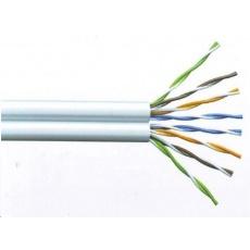 UTP TWIN kabel PlanetElite, Cat5E, drát, PVC, Dca, šedý, 305m