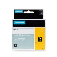 PRINTLINE kompatibilní páska s DYMO 1734525, 24mm x 3,5m, černý tisk / žlutý podklad, RHINO, nylonová, flexibilní