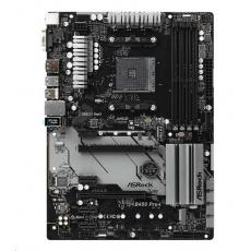 BAZAR ASRock MB Sc AM4 B450 PRO4, AMD B450, 4xDDR4, VGA - repair (bez příslušenství)