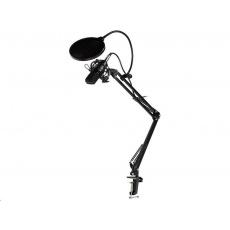 TRACER mikrofon Studio PRO, 3.5 jack, 2.5 m kabel, černá