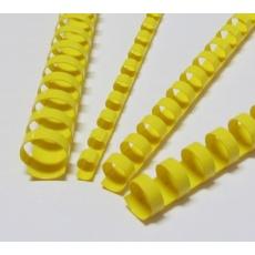 Plastové hřbety 8 žluté