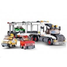 Sluban B-0339 Kamion pro přepravu aut 638 dílků