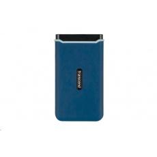 TRANSCEND externí SSD ESD370C 250GB, USB 3.1 Gen.2, modrá