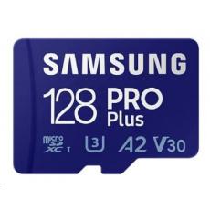 Samsung micro SDHC karta 128GB PRO Plus + SD adaptér