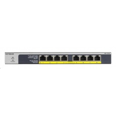 Netgear GS108PP 8-port Gigabit PoE+ Switch, 8x gigabit PoE port, PoE budget 123W, fanless