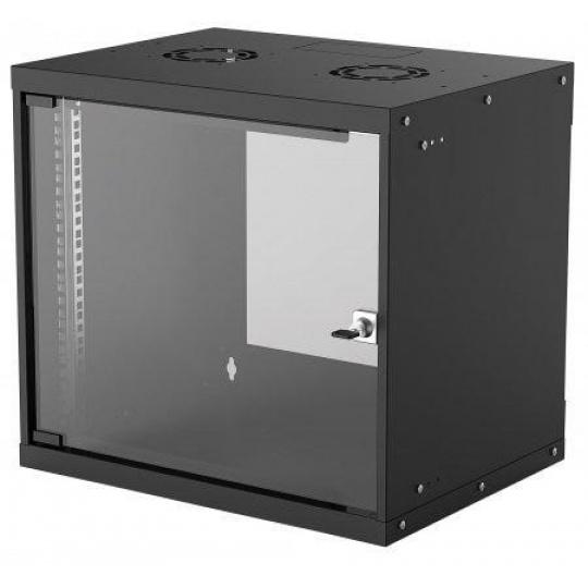 "Intellinet 19"" BASIC rozvaděč 9U/400mm, černý, rozložený flatpack"