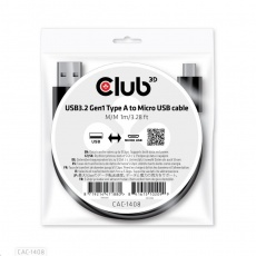 Club3D Kabel USB 3.2 Gen1 Type-A to Micro USB Cable M/M, 1m