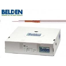 BELDEN H121 CU - koaxiální kabel, průměr 5mm, PVC, impedance 75 Ohm, bílý, 100m