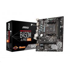 BAZAR - MSI MB Sc AM4 B450M-A PRO MAX, AMD B450, 2xDDR4, VGA, mATX - repair