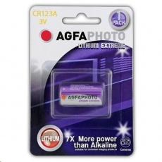 AgfaPhoto lithiová foto baterie CR123A, blistr 1ks