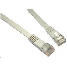 Solarix Patch kabel plochý CAT5E UTP LSOH 0,5m šedý non-snag-proof C5E-111GY-0,5MB