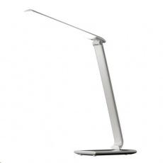 Solight LED stolní lampička stmívatelná, 12W, volba teploty světla, USB, bílý lesk