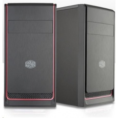 BAZAR Cooler Master case MasterBox E300L, červený rámeček, Micro-ATX, 2x USB 3.0, - poškozená krabice
