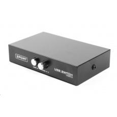 GEMBIRD Datový přepínač USB 2:1 manuální (switch)