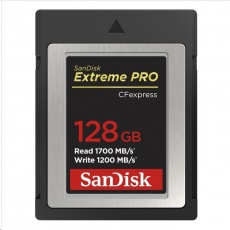 SanDisk Extreme Pro CFexpress Card 128GB, Type B, 1700MB/s Read, 1200MB/s Write