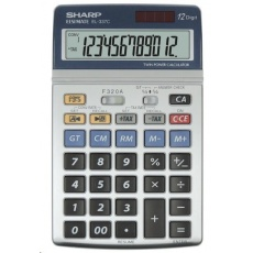 SHARP kalkulačka - EL337C - stříbrná