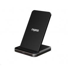 RAPOO bezdrátový nabíjecí stojánek XC220, adaptér, stříbrná/černá