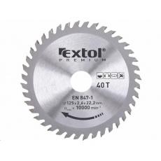 Extol Premium (8803207) kotouč pilový s SK plátky, 125x1,3x22,2mm, 40T