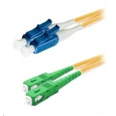 Duplexní patch kabel SM 9/125, OS2, LC(PC)-SC(APC), LS0H, 1m