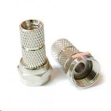 Konektor F pro koaxiální kabel o průměru 5mm, balení 100ks