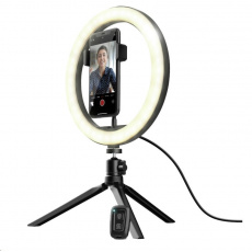 TRUST kruhové světlo Maku Ring Light Vlogging Kit