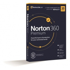 NORTON 360 PREMIUM 75GB +VPN 1 uživatel pro 10 zařízení na 1rok ESD