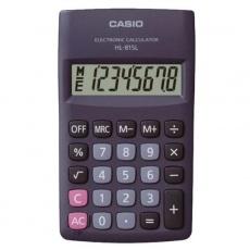 CASIO kalkulačka HL 815L BK, černá, kapesní, osmimístná