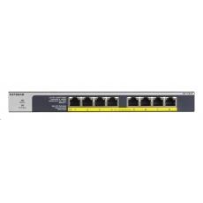Netgear GS108LP 8-port Gigabit PoE+ Switch, 8x gigabit PoE port, PoE budget 60W, fanless