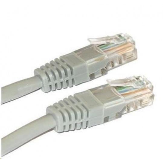 Patch kabel Cat5E, UTP, křížený - 3m, šedý