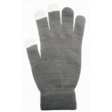 Aligator rukavice na dotykový displej, dámské, šedá