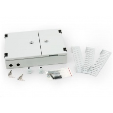 TRITON Nástěnný optický rozvaděč 24xST, 24xSC single,16xSC duplex, šedý