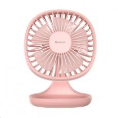 Baseus stolní mini ventilátor Růžová
