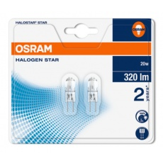 OSRAM Halogen Halostar Star  64425 ST 12V 20W  G4 noDIM C Sklo 320lm 2700K 2000h (blistr 2ks)