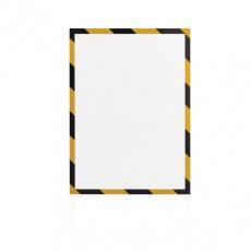 Magnetický rámeček Magnetofix A4 bezpečnostní žluto-černá (5ks)