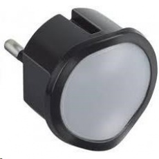 Legrand - LED nočné svetlo / núdzové svetlo LED studená+teplá biela, Stmievateľné, aj ako baterka, Čierne