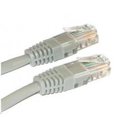 Patch kabel Cat5E, UTP, křížený - 0,5m, šedý